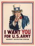 Uncle Sam, I Want You for the U.S. Army, 1917 Art Print