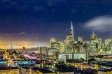 San Francisco Holiday Lights Art Print