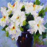 White Peony Bouquet Art Print