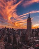 9-11 New York Sunset Art Print