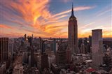 9-11 New York Sunset 2 Art Print