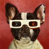 3D Dog Art Print