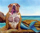 Mermaid Dog Art Print