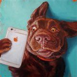 Dog Selfie Art Print