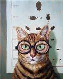 Feline Eye Exam Art Print