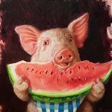 Pig Out Art Print