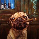 Uptown Pug Art Print