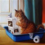 Kitty Throne Art Print