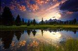 Sunset Grand Tetons, WY Art Print