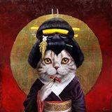 Kyoto Kitty Art Print