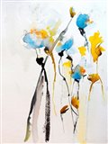 Blue Flowers II Art Print