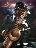 Jazzman Moe Art Print
