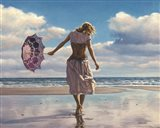 Walking on Broken Clouds Art Print