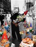 Garden Gnomes - VJ Day Art Print