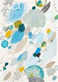 Blue Lightening Art Print