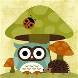 Owl and Hedgehog Art Print
