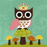 Princess Owl Art Print