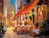 Cafe in Light Art Print