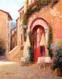 Eze Village Cafe, France Art Print