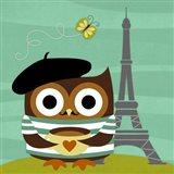 Owl in Paris Art Print