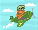 Airborne Sloth Art Print