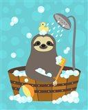 Bathing Sloth Art Print
