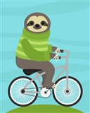 Cycling Sloth Art Print