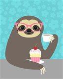 Diva Sloth Art Print