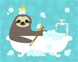 Scrubbing Bubbles Sloth Art Print
