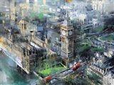 London Green - Big Ben Art Print
