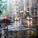 Manhattan Red Umbrella Art Print