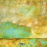 Deep Breath, Teal Trees, Stillness Art Print