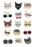 Cats with Glasses Art Print