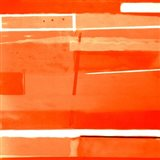 Red Monochromatic Art Print