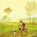 Master Lamb and His Painting Master Art Print