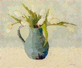 Tulips in Turquoise Art Print
