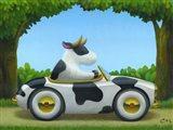 Cow Car Art Print