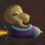 Rocket Lion Art Print