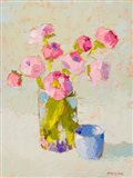 Bouquet With Blue Cup Art Print