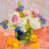 Peonies, Irises and Hydrangea Art Print