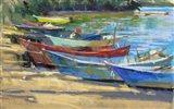 Fishing Boats Marta Art Print