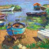 Fishing Boats in Marsala Art Print