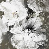 White and Gray Flowers Art Print