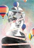 Cleo De Merode Baloons Art Print