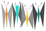 Butterflies - Grays Art Print