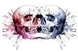 Conjoined Skull Art Print