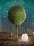 Tappy and the Moon Art Print