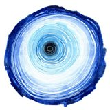 Tree Ring - Indigo Art Print