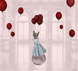 Ball with Balloons Art Print