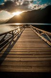 Crescent Lake Sunset Art Print